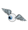 wings and eye urban art and graffiti design vector image