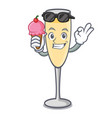 with ice cream champagne character cartoon style vector image