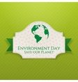 World Environment Day Badge and Ribbon vector image