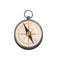 cartoon icon of silver compass with black arrow vector image