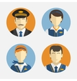 Avatar people Flat design icons depicting vector image