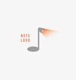 creative musical note logo vector image