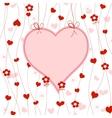 cute heart frame vector image
