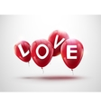 Flying balloons concept of LOVE for celebrating vector image