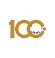 100 year anniversary template design vector image