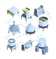 3d landscape of brewery isometric vector image
