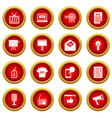 advertisement icon red circle set vector image vector image
