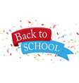 back to school celebrations design vector image vector image