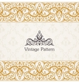 Background invitation vintage label floral frame vector image vector image