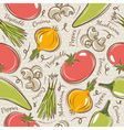 Background with tomato onions pepper vector image