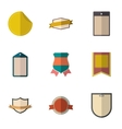 Badge icons set flat style vector image vector image