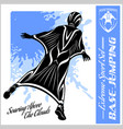base-jumping - wingsuit flying sport set vector image