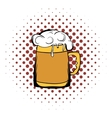 Beer mug comics icon vector image vector image