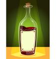 bottle wine vector image vector image