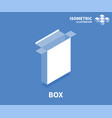 box icon isometric template for web design vector image