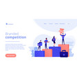 branded competition concept landing page vector image vector image