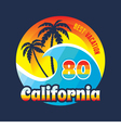 California 80 - surfing and vacation - badge vector image vector image
