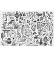 china hand drawn doodle set vector image vector image