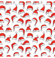 christmas seamless pattern with hand drawn red vector image