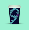 coffee cup in abstract style cover vector image