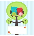 couple owls vector image
