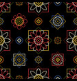 cross stitch for curtains vector image vector image