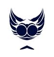 Dark blue logo vector image vector image