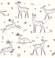 deer seamless vector image vector image