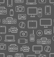Different media devices seamless pattern vector image vector image
