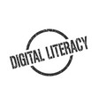 digital literacy stamp vector image