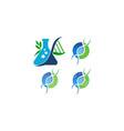 dna genetics template set vector image vector image