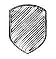 emblem in monochrome blurred contour and striped vector image vector image