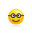 emoji smile icon symbol nerd smiley face yellow vector image