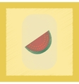 flat shading style icon slice of watermelon vector image vector image