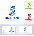 gene tech logo designs vector image