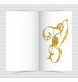 gold cover design mockup notebook creative layout vector image