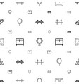 golden icons pattern seamless white background vector image vector image