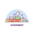 government creative ui concept icon vector image vector image