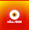 halloween eye ball cartoon on background vector image