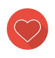heart flat linear long shadow icon vector image