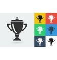 icon of education cup vector image vector image