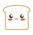 kawaii bread icon vector image vector image