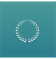 Laurel wreath icon or sign i vector image vector image