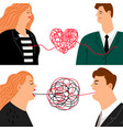 love hate man and woman vector image