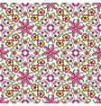 mexican talavera ceramic tile pattern with flowers vector image vector image