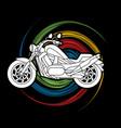 motorbike side view vector image vector image