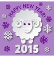 New Year card with a Sheep vector image vector image