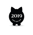 new year chinese 2019 of the pig set one vector image vector image