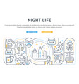 night life vector image