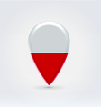Poland icon point for map vector image vector image